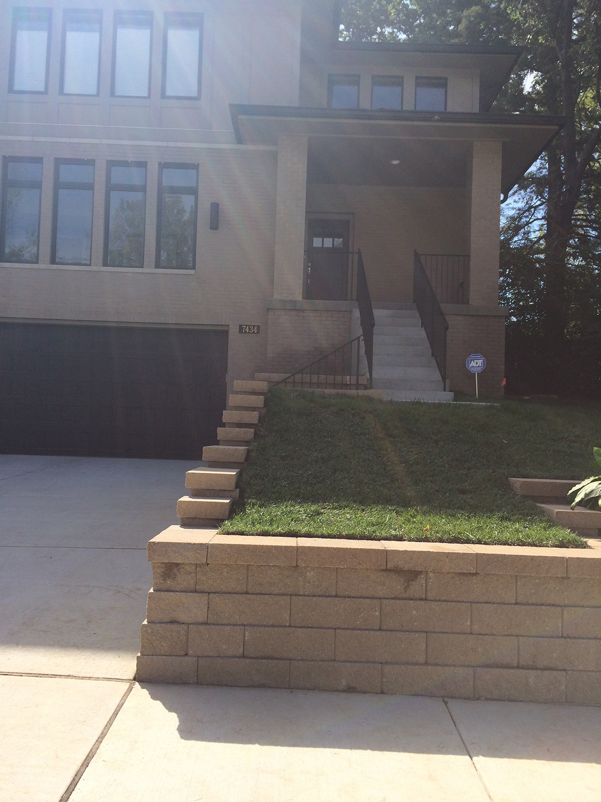 Fritz Stonework Landscape St Louis Retaining Wall Stairs